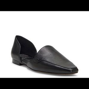 Vince Camuto Kordie Black Leather D'Orsay Flat